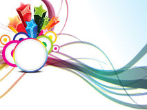 Abstract colorful wave background with circle Royalty Free Stock Images