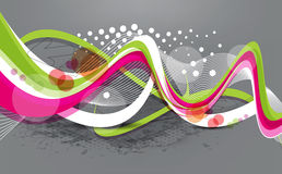 Abstract colorful wave background with grunge. Vector illustration royalty free illustration