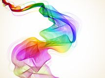 Abstract colorful wave Stock Photo