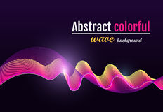 Abstract colorful wave background. Moving Colorful Lines on the. Black Background for Poster, Flyer, Cover, Presentation. Vector version in pink color royalty free illustration