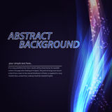 Abstract colorful wave background. Technology style with blend. Stock Images