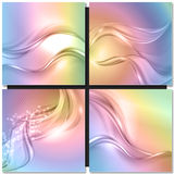 Abstract colorful wave background Stock Images