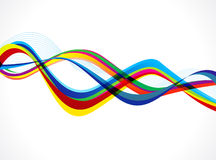Abstract colorful wave background Stock Photos