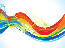 Abstract colorful wave background Royalty Free Stock Image
