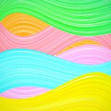 Abstract colorful wave background. Vector Stock Photography