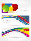 Abstract colorful wave banner Stock Photo