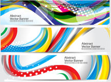 Abstract colorful wave banner background Royalty Free Stock Photography