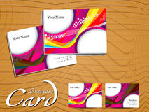 Abstract colorful wave businees card Stock Photography
