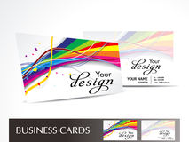 Abstract colorful wave business card Royalty Free Stock Photos