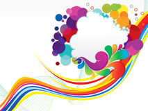 Abstract colorful wave explode. Vector illustration Stock Photos