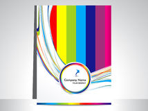 Abstract colorful wave flayer Stock Photos