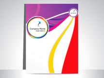 Abstract colorful wave flayer Stock Photo