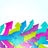 Abstract colorful wave made from arrows. Abstract colorful wave made from 3D arrows Royalty Free Stock Images