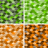 Abstract colorful wave seamless pattern. the fabric. Scales vector green, orange. Abstract colorfull wave seamless pattern. the fabric. Scales vector green Royalty Free Stock Photography