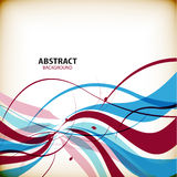 Abstract colorful wave shapes background Stock Photo