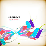 Abstract colorful wave shapes background Royalty Free Stock Images
