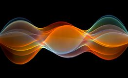 Abstract colorful waves. Isolated on black Royalty Free Illustration