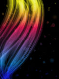 Abstract Colorful Waves. On Black Background royalty free illustration
