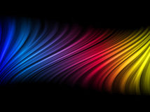 Abstract Colorful Waves. On Black Background vector illustration
