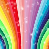 Abstract Colorful Waves Stock Image