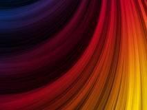 Abstract Colorful Waves Background. Abstract Colorful Waves on Black Background Stock Photo