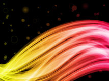 Abstract Colorful Waves Background Stock Images