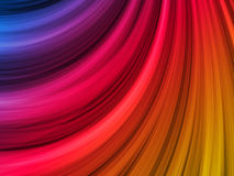 Abstract Colorful Waves Background. Abstract Colorful Waves on Black Background stock illustration