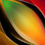 Abstract colorful waves background. Abstract colorful waves background on black background Royalty Free Stock Images