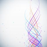 Abstract colorful waves background with dots Stock Image