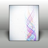 Abstract colorful waves background with dots in Royalty Free Stock Images