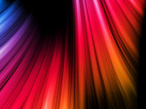 Abstract Colorful Waves on Black Royalty Free Stock Photography