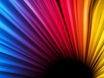 Abstract Colorful Waves on Black Stock Image
