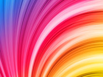 Abstract Colorful Waves on Black Royalty Free Stock Photo