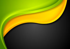 Abstract colorful waves corporate design. Bright wavy vector background Stock Photo
