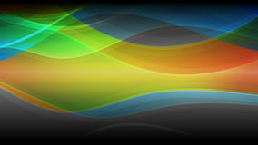 Abstract colorful waves video animation stock video