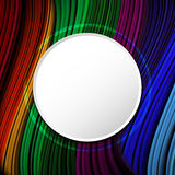 Abstract colorful wavy background with copy space Stock Photo