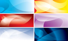 Abstract colorful wavy backgrounds - vector Royalty Free Stock Image