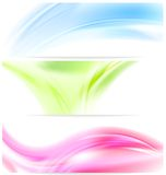 Abstract colorful wavy banners Stock Image
