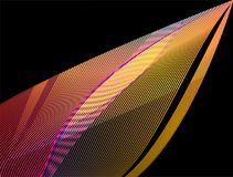 Abstract  colorful wavy lines. Awesome 4k abstract  colorful wavy lines with black background Royalty Free Stock Images