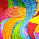Abstract colorful wavy pattern design. Vector background Stock Photos