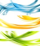 Abstract colorful wavy vector banners Royalty Free Stock Photography