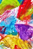 Abstract colorful wax crayons background. Cute texture for desig Stock Image