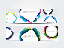 Abstract colorful web banner Royalty Free Stock Photo