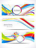 Abstract colorful web banner Royalty Free Stock Images