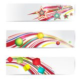 Abstract colorful web banner set. Stock Image