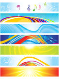 Abstract colorful web banners. Vector illustration Stock Image