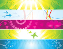 Abstract colorful web banners Stock Images