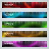 Abstract colorful web banners templates. Abstract style colorful web banners vector design templates collection vector illustration