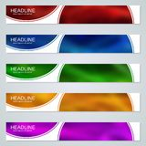Abstract colorful web banners templates. Abstract style colorful web banners vector design templates collection royalty free illustration