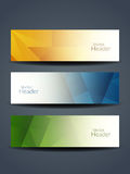 Abstract colorful web header designs. Stock Photos